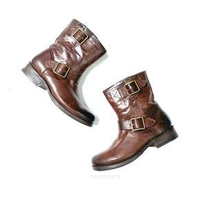 NWT Frye Brown Buckle Leather Classic Boot   6
